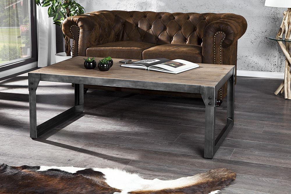Photo table basse bois metal - Table salon bois metal ...