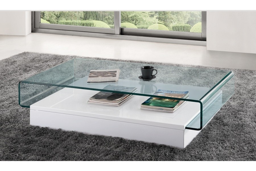 Organisation table basse en verre - Tables basses de salon en verre ...