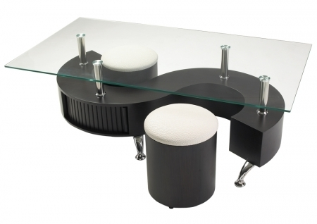 Table basse s pouf - Table basse avec tabouret ...
