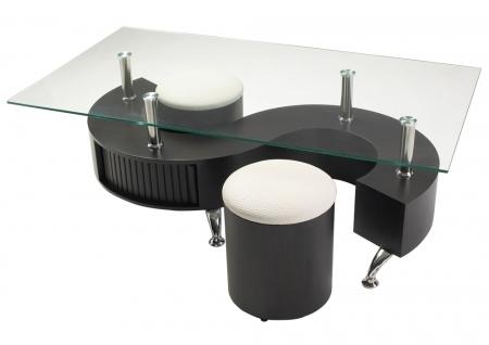 Table basse s pouf - Table basse avec tabouret ...