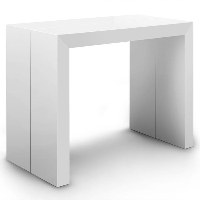 Exemple table console blanc laque - Console blanc laque ikea ...