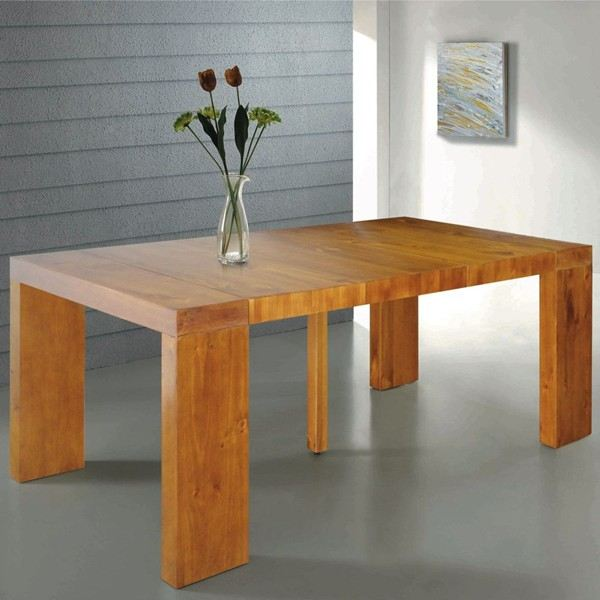 Exemple table console bois extensible - Console bureau extensible ...