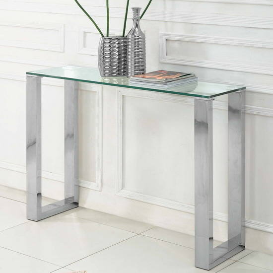Table console en verre for Table de television en verre