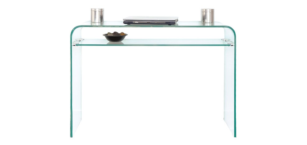 photo table console en verre. Black Bedroom Furniture Sets. Home Design Ideas