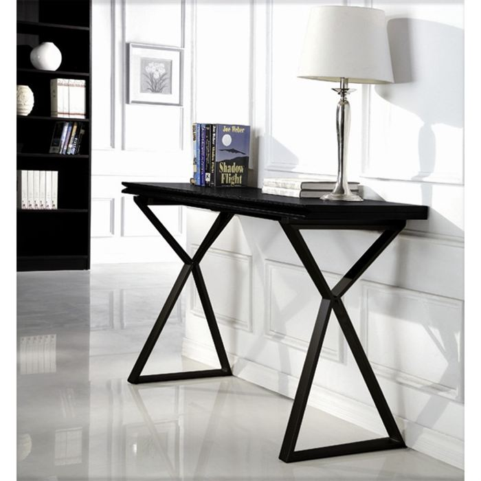 Visuel Table Console Noir Laque