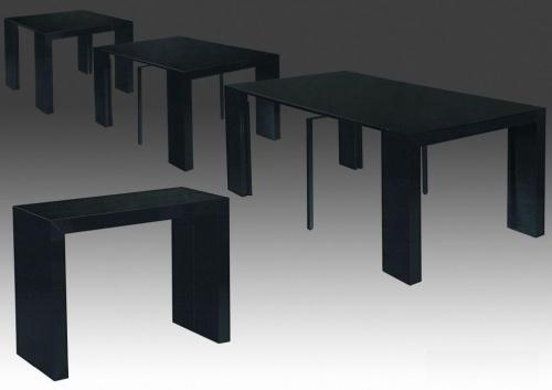 Table console noir laque - Table console extensible blanc laque design ...