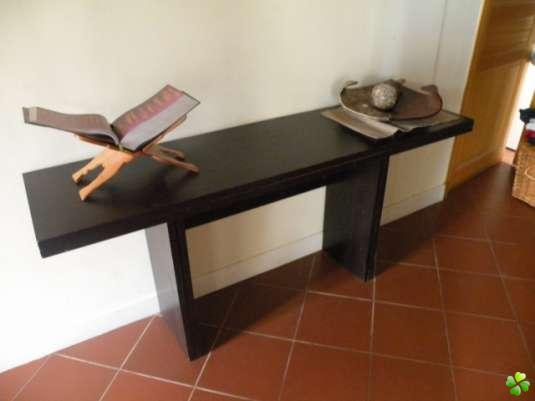 table console plateau rabattable