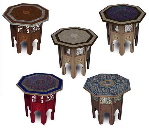 Table d 39 appoint marocaine for Table marocaine