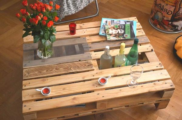 table de bar en palette. Black Bedroom Furniture Sets. Home Design Ideas