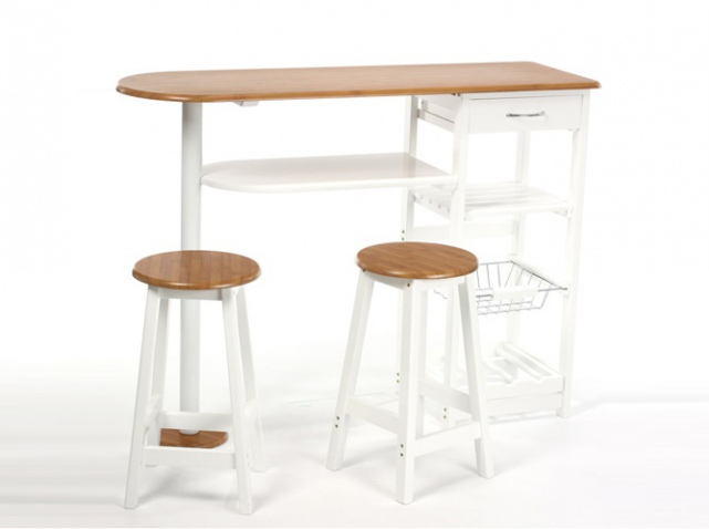 Table de bar rabattable - Table de cuisine haute ikea ...