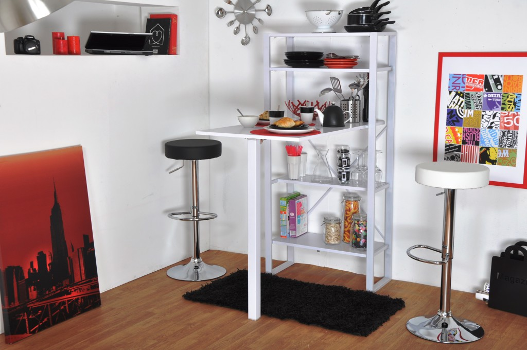 Table de bar rabattable - Meuble de cuisine avec table integree ...