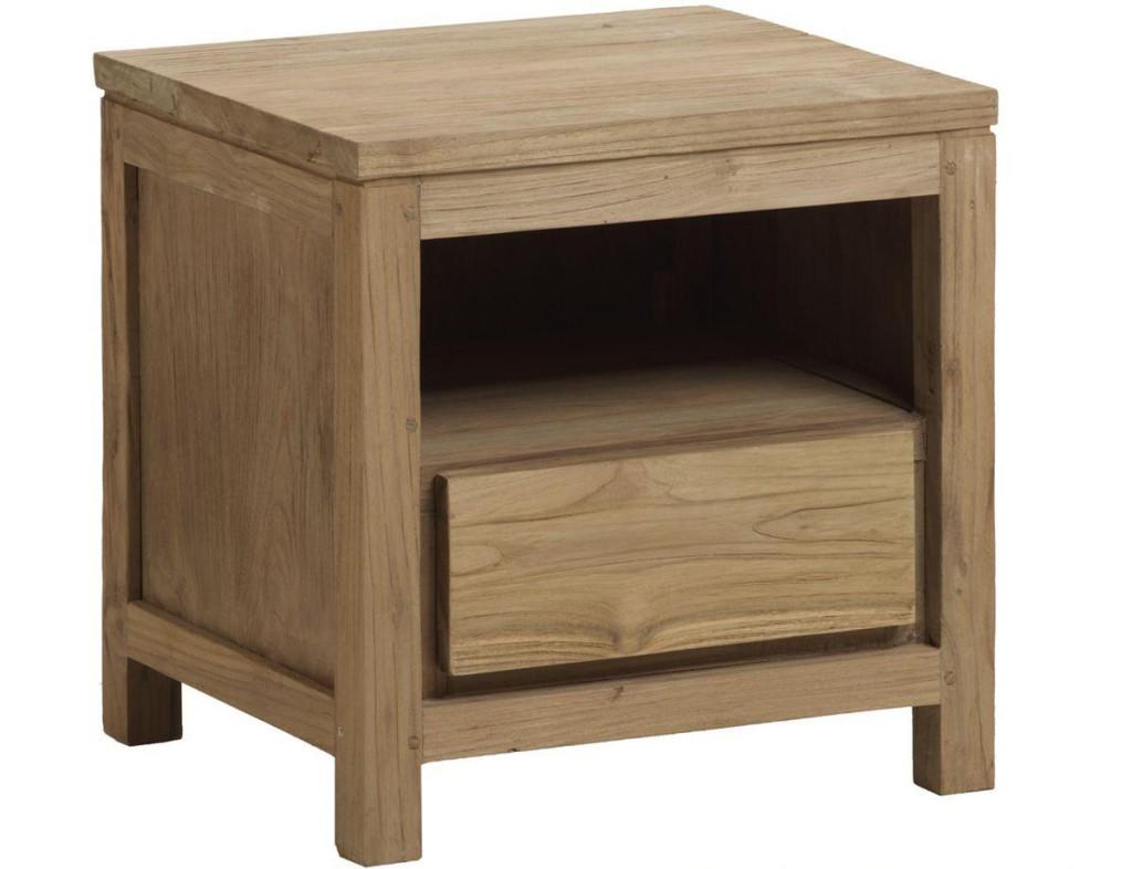 Table de chevet bois brut - Table de chevet en bois ...
