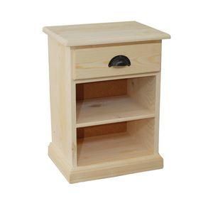 Table de chevet bois brut - Peindre table de chevet ...