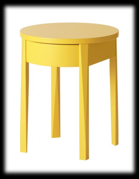 Modèle Table De Chevet Jaune