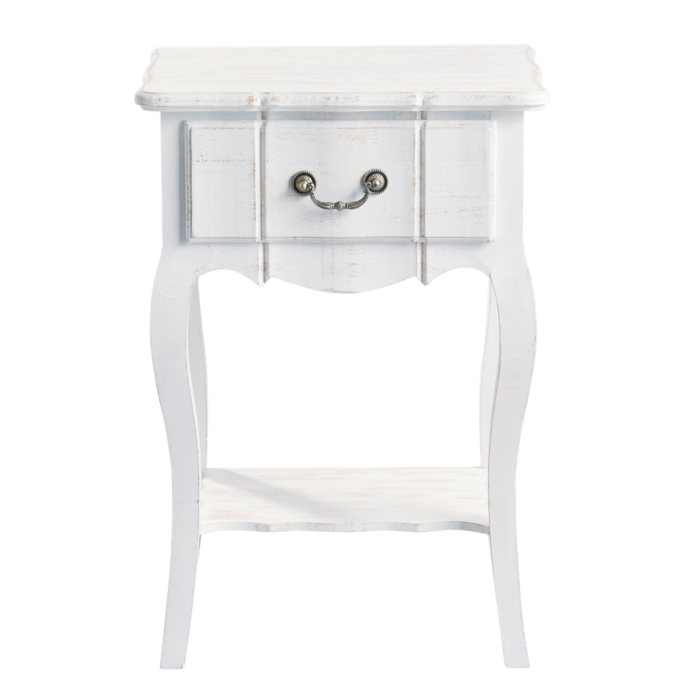 Table de chevet josephine - Table de chevet laque blanc ...