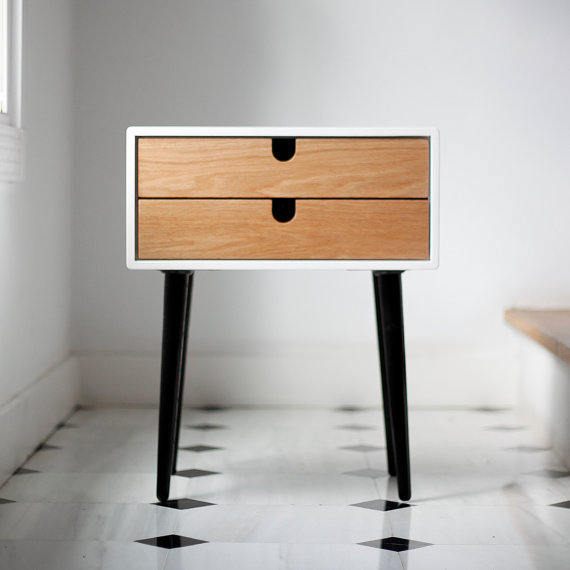 Table de chevet scandinave for Table de nuit scandinave