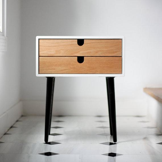 Table de chevet scandinave - Table de chevet style scandinave ...