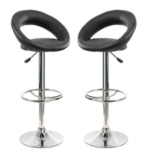 tabouret de bar noir simili cuir. Black Bedroom Furniture Sets. Home Design Ideas