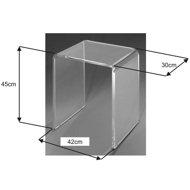 exemple tabouret de douche transparent