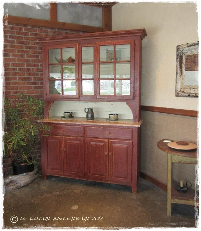 vaisselier rouge. Black Bedroom Furniture Sets. Home Design Ideas