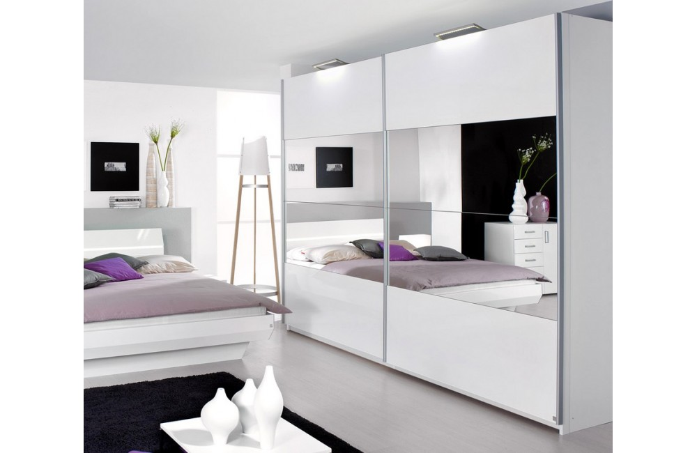 armoire chambre noir et blanc. Black Bedroom Furniture Sets. Home Design Ideas