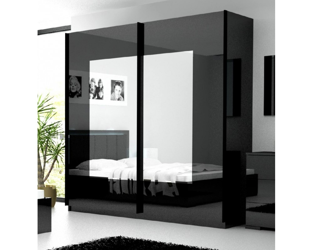 chambre blanche et noir. Black Bedroom Furniture Sets. Home Design Ideas