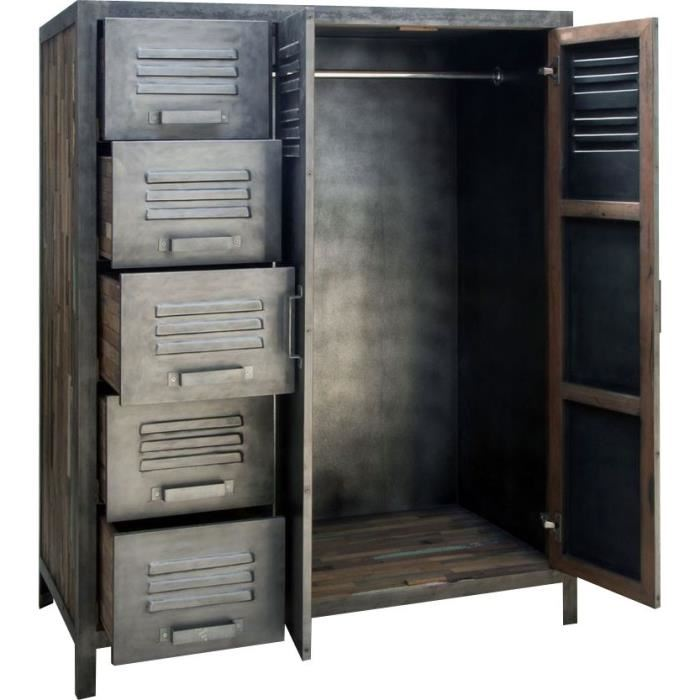 armoire de chambre metallique. Black Bedroom Furniture Sets. Home Design Ideas