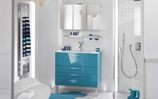 armoire salle de bain bleu. Black Bedroom Furniture Sets. Home Design Ideas