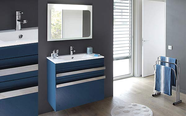 meuble salle de bain bleu id es de conception sont int ressants votre d cor. Black Bedroom Furniture Sets. Home Design Ideas
