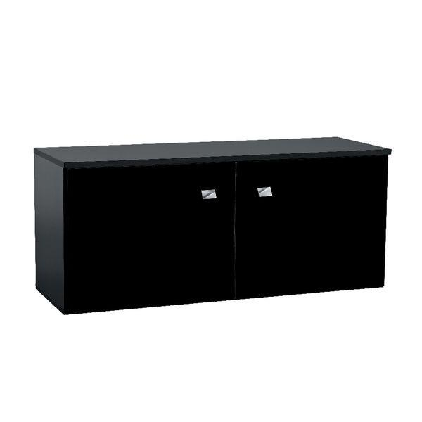 organisation buffet bas noir et blanc laque. Black Bedroom Furniture Sets. Home Design Ideas