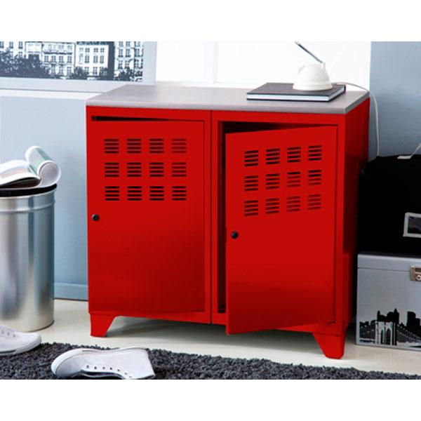 buffet bas rouge. Black Bedroom Furniture Sets. Home Design Ideas