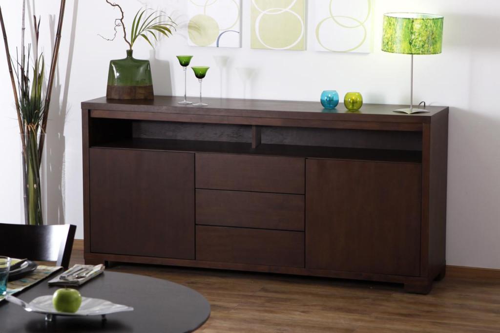 buffet bas wenge pas cher. Black Bedroom Furniture Sets. Home Design Ideas