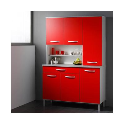 Buffet de cuisine moderne 6 portes rouge italian for Porte cuisine moderne