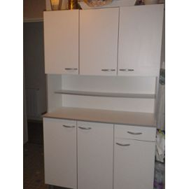 Meubles de cuisine blanc meuble cuisine blanc chapeau de - Buffet de cuisine blanc ...