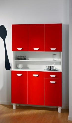 buffet de cuisine rouge laque. Black Bedroom Furniture Sets. Home Design Ideas