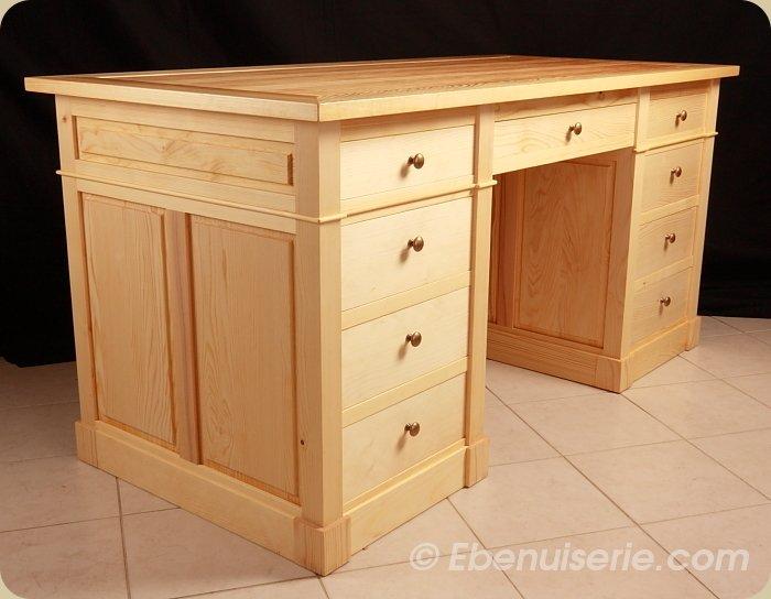 Caisson de bureau en bois massif - Repeindre un bureau en bois ...