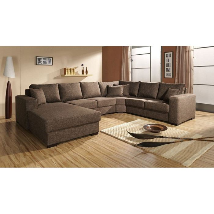 Canape d 39 angle 6 7 places - Canape cuir 7 places ...