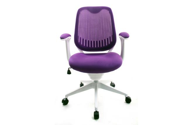Chaise de bureau violet for Chaise de bar violet