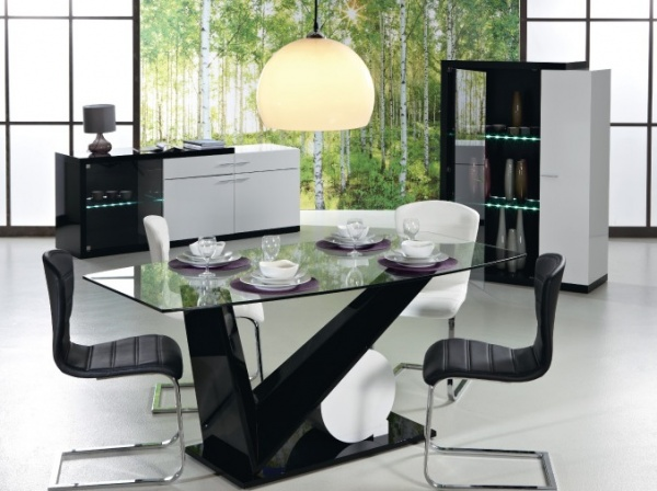 salle a manger fly blanc. Black Bedroom Furniture Sets. Home Design Ideas