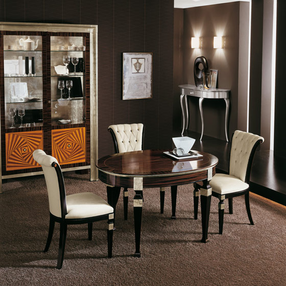 chaises salle a manger luxe. Black Bedroom Furniture Sets. Home Design Ideas