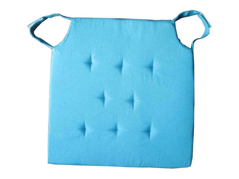 galette de chaise bleu turquoise. Black Bedroom Furniture Sets. Home Design Ideas