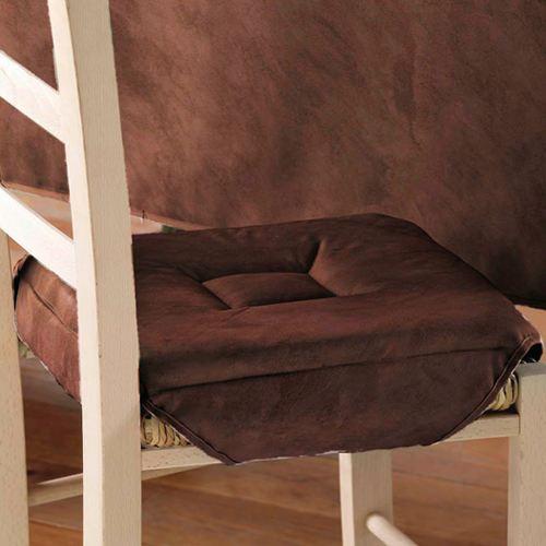 galette de chaise marron. Black Bedroom Furniture Sets. Home Design Ideas