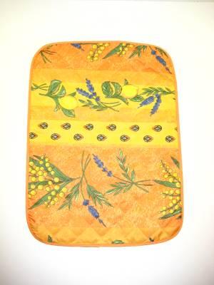 galette de chaise tissu provencal