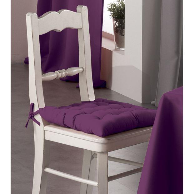 Galette de chaise violette - Modele galette de chaise ...