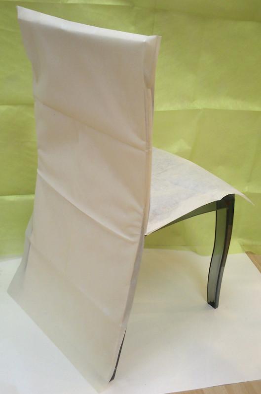 Housse de chaise ivoire - Tati housse de chaise ...