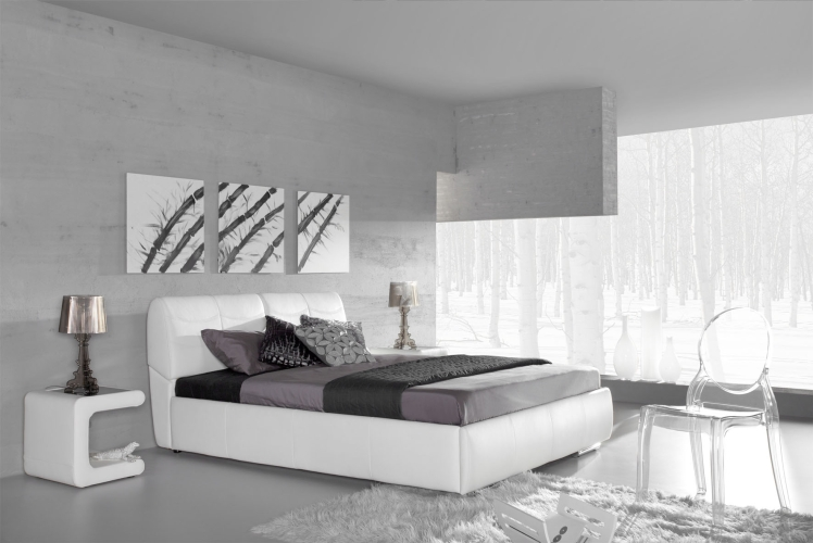 lit deux personnes moderne. Black Bedroom Furniture Sets. Home Design Ideas