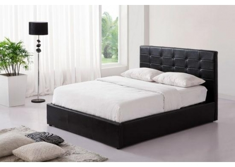 lit 2 personnes noir. Black Bedroom Furniture Sets. Home Design Ideas