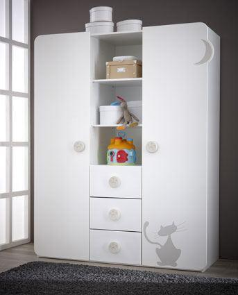 lit bebe kitty blanc. Black Bedroom Furniture Sets. Home Design Ideas