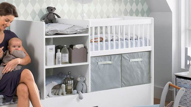 Lit bebe tout en 1 for Separation chambre parents bebe
