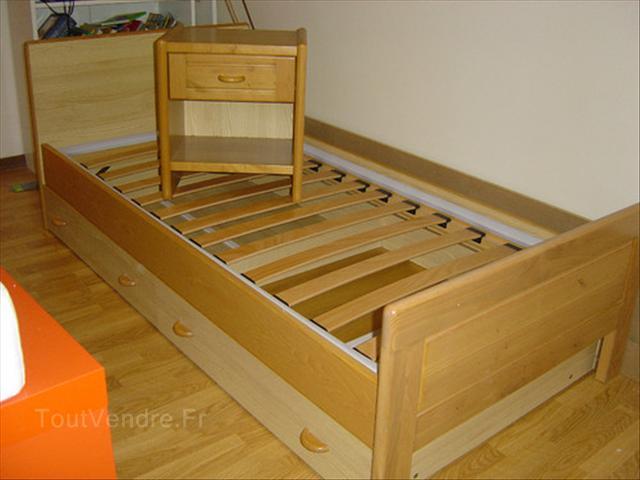 Lit une personne en bois - Lit mezzanine bois 1 personne ...